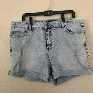 Forever 22 acid washed distressed shorts